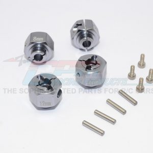 GPM Aluminium Hex Adapter 12x8mm Gray Silver HPI Crawler King #CK010//12X8MM-GS
